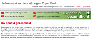 tone of voice voorbeeld Royal Canin